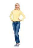 Muchacha sonriente en ropa casual Imagen de archivo libre de regalías