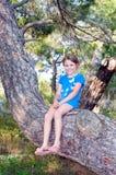 Muchacha sonriente feliz Fotografía de archivo