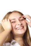Muchacha sonriente feliz foto de archivo libre de regalías