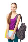 Muchacha sonriente feliz joven del estudiante Imagen de archivo libre de regalías