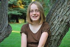 Muchacha sonriente joven Foto de archivo