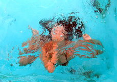 Muchacha subacuática Fotografía de archivo