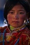 Muchacha tibetana foto de archivo libre de regalías