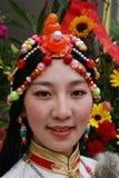 Muchacha tibetana Imágenes de archivo libres de regalías