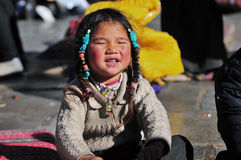 Muchacha tibetana Fotos de archivo libres de regalías