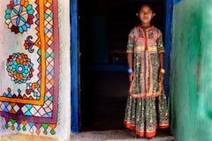 Muchacha tribal adolescente Fotografía de archivo