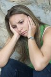 Muchacha triste Foto de archivo