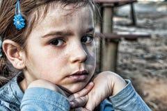 Muchacha triste Foto de archivo libre de regalías