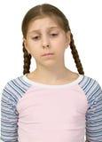 Muchacha triste del adolescente Foto de archivo libre de regalías