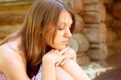 Muchacha triste del retrato Foto de archivo libre de regalías
