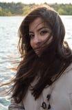 Muchacha turca joven en afernoon ventoso Foto de archivo libre de regalías
