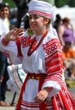 Muchacha ucraniana en desfile Imagen de archivo libre de regalías