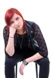 Muchacha urbana adolescente pensativa Foto de archivo