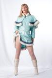Muchacha vestida como Papá Noel ruso Imágenes de archivo libres de regalías