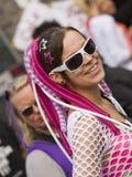 Muchacha vestida del raver en el Love Parade 2010 Fotografía de archivo libre de regalías