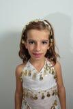 Muchacha vestida en día de fiesta Imagenes de archivo