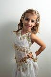 Muchacha vestida en día de fiesta Foto de archivo libre de regalías