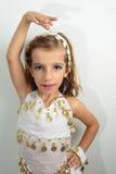 Muchacha vestida en día de fiesta Fotografía de archivo libre de regalías