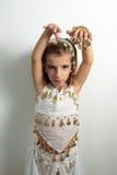 Muchacha vestida en día de fiesta Fotos de archivo libres de regalías