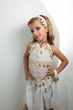 Muchacha vestida en día de fiesta Imagen de archivo