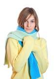 Muchacha vestida en un suéter Imagen de archivo libre de regalías