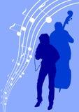 Muchacha y bajo cantantes Imagen de archivo