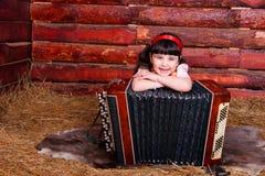 Muchacha y bayan Fotos de archivo libres de regalías