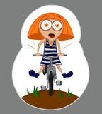 Muchacha y bicicleta Fotos de archivo libres de regalías