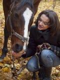 Muchacha y caballo Foto de archivo