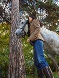 Muchacha y caballo Imagenes de archivo