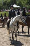 Muchacha y caballo felices Imagenes de archivo