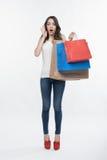 Muchacha y compras Imagen de archivo