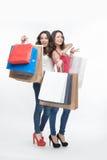 Muchacha y compras Fotografía de archivo