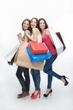 Muchacha y compras Foto de archivo libre de regalías