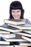 Muchacha y libros Foto de archivo libre de regalías