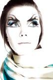Muchacha y maquillaje inusual. Fotografía de archivo libre de regalías