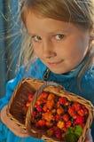 Muchacha y moreras falsas Foto de archivo libre de regalías