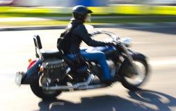 Muchacha y motorcicle Fotografía de archivo