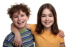 Muchacha y muchacho Imagen de archivo