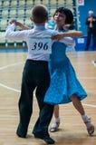 Muchacha y muchacho de baile Fotografía de archivo libre de regalías