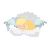 Muchacha y muchacho del ángel del bebé Fotos de archivo libres de regalías