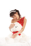 Muchacha y peluche Foto de archivo libre de regalías