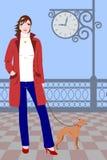 Muchacha y perro libre illustration