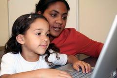 Muchacha y profesor Imagen de archivo libre de regalías