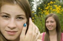 Muchachas adolescentes al aire libre Imagenes de archivo