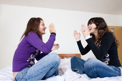 Muchachas adolescentes alegres Fotografía de archivo