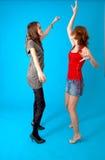 Muchachas adolescentes de baile Foto de archivo libre de regalías