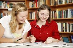Muchachas adolescentes - diversión de la preparación Fotos de archivo