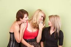 Muchachas adolescentes jovenes hermosas que comparten chisme Foto de archivo libre de regalías