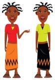 Muchachas africanas de la aldea Fotografía de archivo